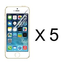5pcs a lot = US$0.99 free shipping Clear screen protector film for iphone 5 5S 5C 4 4S High definition
