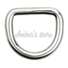 10PCS /lot 4MM Diameter Forged AISI 316 Stainless Steel Welded D Ring Boat Hardware Rigging Hardware(China)