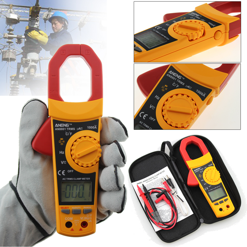 Double-integral  A/D Transform Clamp Multimeter Current Voltage Capacitance 6000 Counts Meter Temperature Auto Range Ammeter<br>