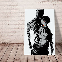 diy oil painting Ajin  digital paint by numbers Japan Style cartoon modular painting  coloring by numbers drawing practice