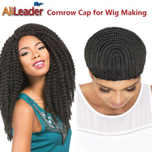 AliLeader Products Crochet Braid Wig Caps 5Pcs/Lot Cornrow Lace Wig Caps For Making Wigs With Adjustable Band 52-66Cm Stretching