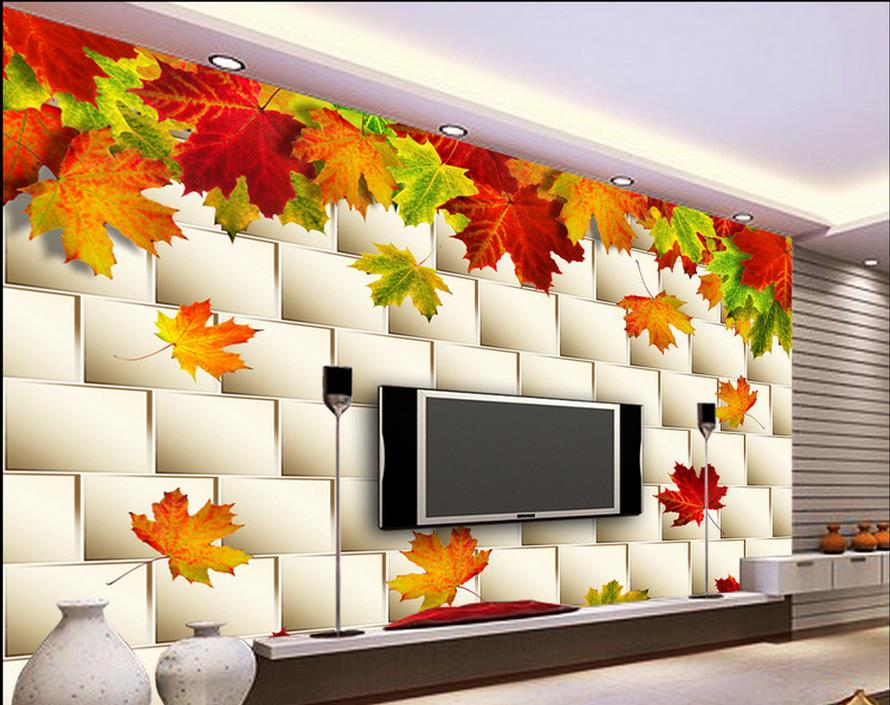 customized wallpaper for walls 3 d kitchen wallpaper Autumn autumn leaves TV background wall background painting 3d wall murals<br><br>Aliexpress