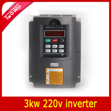 3KW 220V AC Variable Frequency Drive VFD Inverter for 3.0KW spindle 3000W vfd 3KW Inverter(China)