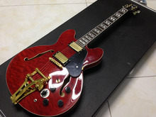 1964 ES-345 Premiere electric guitar with quilted maple top ,bigsby bridge semi Hollow body Jazz Guitar(China)