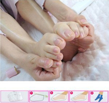 3pairs=6pcs Exfoliating Foot Mask Socks Baby Bamboo Vinegar Remove Dead Skin Cuticles Heel Feet Care(China)