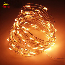 Oobest 2M 20 LEDs 9 Colors String Copper Wire Small Fairy Lights Battery Powered Waterproof Christmas Party Decoration Lights