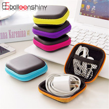 Portable Mini Storage bag In-ear Earphone Cases EVA Square Earbuds Headset Carry Bags Coin Key USB cable Storage Organizer(China)