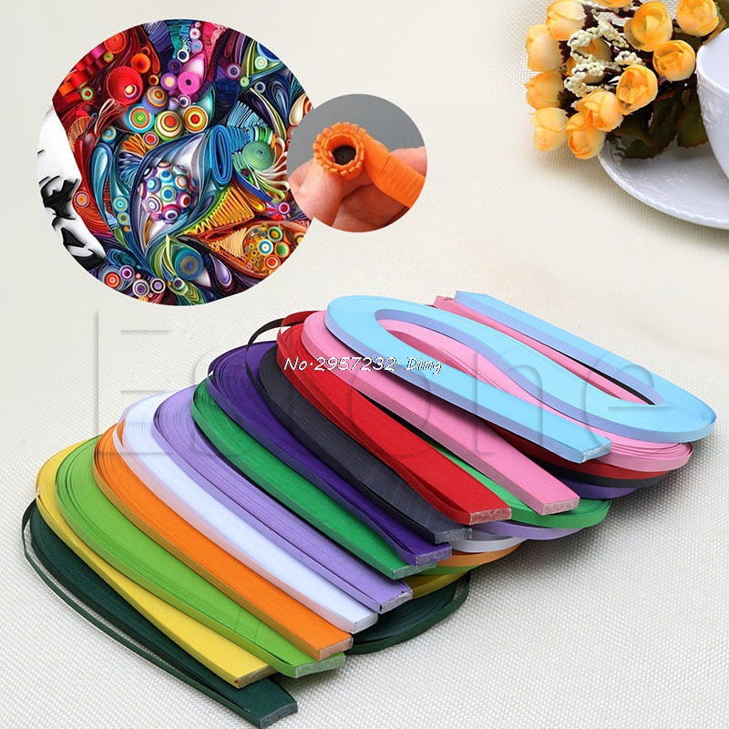 NEW DIY Craft Creative Solid Color Origami Tool Handmade Quilling Paper