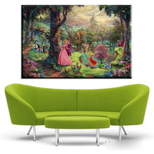 ZZ411 Thomas Kinkade Oil Paintings Tangled Art Decor Painting Giclee Canvas Art Framed Cuadros Spray Posters and Prints