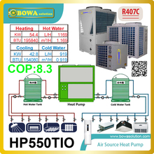 Modular design 3-in-1 heat pump can be flexible conbination, suitable wide heating & cooling range by adjustament of quantity