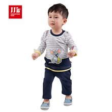 jjlkids babys boys koala fashion suits cotton blends striped fall clothes + trousers news stes(China)