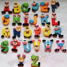 26PCS/LOT.Wood A-Z alphabet fridge magnet,Letters sticker,Teach your own,Home decal.Kindergarten decor.Kids toys.Freeshipping