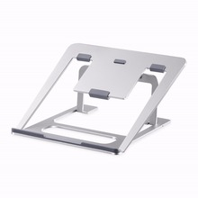 Aluminum Laptop Stand 6 Heights Adjustable Cooling Pad Desktop Tablets Holder Book Bracket Multifunction Use for MacBook/iPad(China)