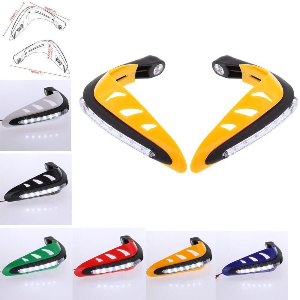 Yellow Black White Red Green Blue LED 7/8 Universal Motorcycle Hand Guards Handguards hand Protectors Dirt Bike ATV KTM<br><br>Aliexpress