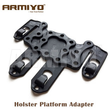 Armiyo Tactical Gun Holster Platform Adapter Attach to Belt webbing vest bag backpack Fit For G17 1911 P226 Hunting Accessories(China)
