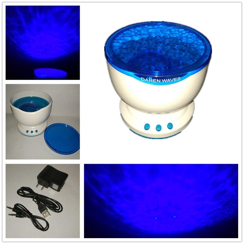 2017 LED Ocean Projector Lamp Night Atmosphere Lights Blue Sea Waves Projector With Mini Speaker Kids Favorite Sweet Soft Lights<br><br>Aliexpress