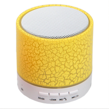 Promot!! hot Selling Smart Mini Portable Wireless Bluetooth Speaker LED Light Stereo Hands free USB TF card Speaker for phone PC