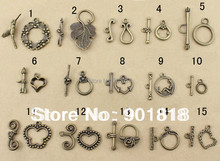 XINYAO 20sets Antique Bronze Color Toggle Clasps Hook Fit Bracelet Necklace Findings Alloy Connectors For Jewelry Making F754