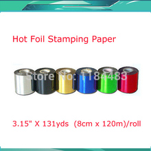 Six Rolls PVC  Foil Paper Hot Foil Stamping Paper Heat Transfer Anodized Gilded Paper
