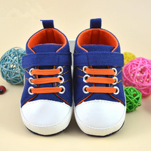 2016 Korea New Canvas Baby Shoes Soft Sole First Walker High Top Boys Infant Shoe 0-1Years