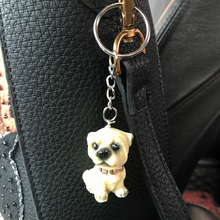 Lovely Resin dog key ring Corgi bulldog pet dogs keychains puppy keyring Jewelry bag charms Key Chain For Women Car Keychain(China)