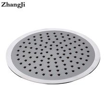 ZhangJi 8 inch big waterfall showerhead Silica gel holes Water Saving shower sprayer Electroplated 20cm Round Shower Head ZJ066(China)