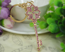 H Key Keyring Fashion Jewelry Women Bag Crystal Rhinestone Charm Pendant Bag KeyChain Valentine Gift(China)