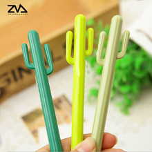 3pcs/lot Korean Cartoon cactus styling creative gel pen canetas Office signature pens kawaii Office stationery Supply(China)