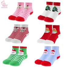 Buy Boys Girls Socks Newborn Baby Christmas Themed Cotton Cartoon Breathable Socks Warm Toddler Children Kids Floor Anti Slip Socks for $1.15 in AliExpress store