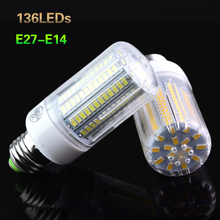 LED 5730 SMD Corn Bulb Light E14 E27 Led Lamp AC 220V 230V Fireproof Radiation Cove Lights 24 to 136 Leds Energy Saving Bulb