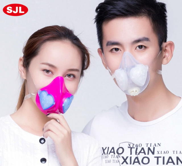 new fashion mouth mask silicone respirator dust mask pm2.5 cycling anti pollution dust mask collocation 10 slice filter cotton<br>