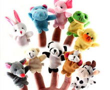 10Pcs Cartoon Animal Finger Puppet Finger Toy Finger Doll Baby Cloth Educational Hand Toy Story