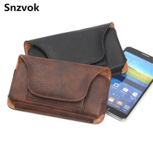 Snzvok Phone Hip Clip Dual Pouch Card Belt Flip PU Leather bag case For iphone 7 For Samsung s8 note 5 J710 For Huawei mate 7 8