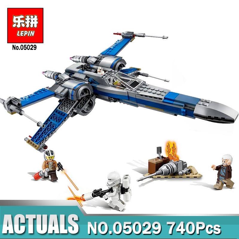 740Pcs Lepin 05029 Star the classic X Genuine wing fighter Model Wars Set Building Blocks Bricks assembled LegoINGlys 75149 toy<br>