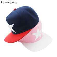 LOVINGSHA Big Star Embroidery Design Unisex Baseball Caps For Women Hot Selling Men Hip Hop Snapback Caps AD017