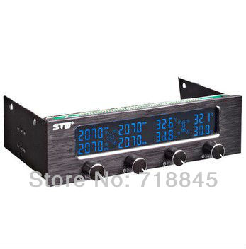 STW 6041 Drive bit 4 channel fan speed controller shut down the fan speed LCD LED white subtitles<br>