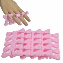 Nail Salon 5pcs/lot Soft Foam Sponge Toe Separator Finger Separator Dividers Nail Art Manicure Pedicure Nail Gel Tools SANJ183