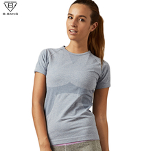 B.BANG Dry Quick Gym Yoga T Shirt Tights Women's Sport Tees for Running Gym Fitness Short Sleeve Clothes Tops for Woman(China)