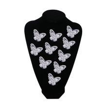 Butterfly Flower Embroidery Sew On Patch Bag Clothes Dress Applique Craft DIY Apparel Accessories Patches For Clothing Fabric