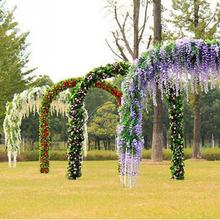Home Garden Garlands Decoration 2m long artificial Hydrangea wisteria flower vines wedding arch flowers for wedding party