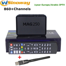 European IPTV Box MAG 250 with USB wifi plus one year Live tv channels Arabic France Albania Spanish Turkey English French IPTV(China)
