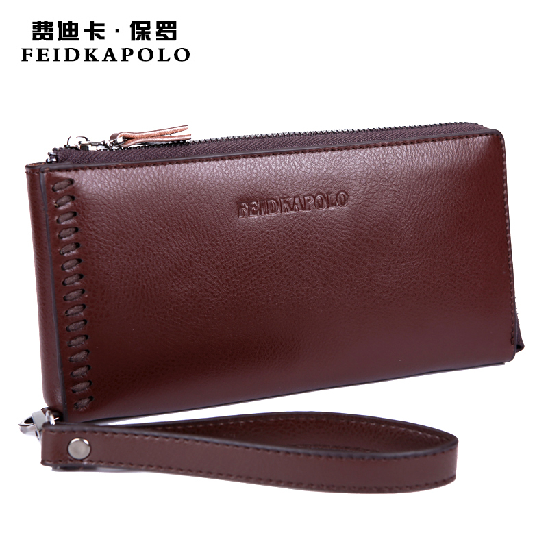 Mens leather wallets Multifunction brand anti theft wallet clutch High quality hand ring purse bags designer leather clutch<br><br>Aliexpress