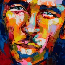 Nielly Francoise artwork Humor Man Cry Hand painted Wall art on Canvas Portrait oil painting Modern canvas art for living room(China)