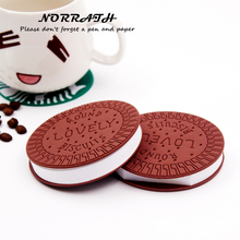 NORRATH Kawaii Cute Stationery Convenient Notebook Chocolate Cookies Memo Pad Office School Gift Supplies Notepad