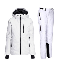 Winter womens ski suits female snowboard jacket and pant ladies keep warm skiwear ski jackets suit women(China)