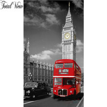 5D Diamond Painting London Bus Decorative Picture of Rhinestone Mosaic Cross Stitch Diamond Pattern Diamond Embroidery Full Gear