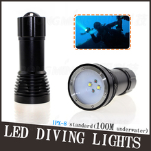 4500Lumen Waterproof Professional LED Underwater Scuba Diving Flashlight torchlight T6 CREE XM-L Torch light 26650 Battery(China)