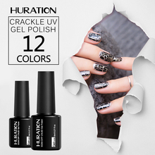 Huration Professional Crack 8ML Crackle UV Gel Nail Polish nail art led lamp saok off Tool Design Art Crack Pattern Lacquer Nail(China)