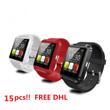 15pcs!Bluetooth Smart Watch U8 Smartwatch U Watch For iOS iPhone Samsung Sony Huawei Xiaomi Android Phones Good as A1 GT08 DZ09