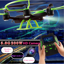 1331W big RC Drone 4CH 2.4G 2MP 5.8G FPV Real-time Transmission A Key Return pressure attitude Plane Model Toys vs X8G